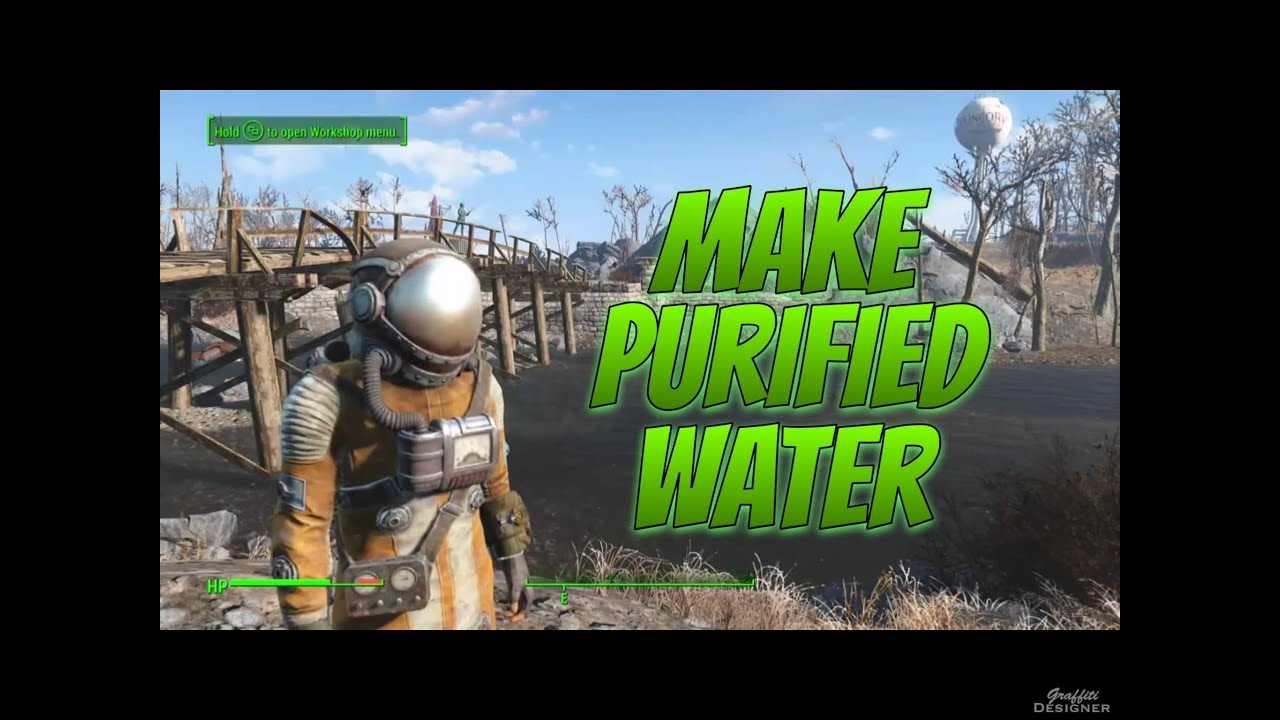 Fallout 4 How To Make Purified Water Tutorial Youtube