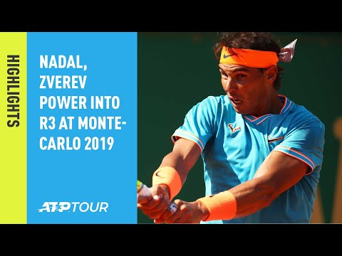Highlights: Nadal, Zverev Power Into R3 At Monte-Carlo 2019