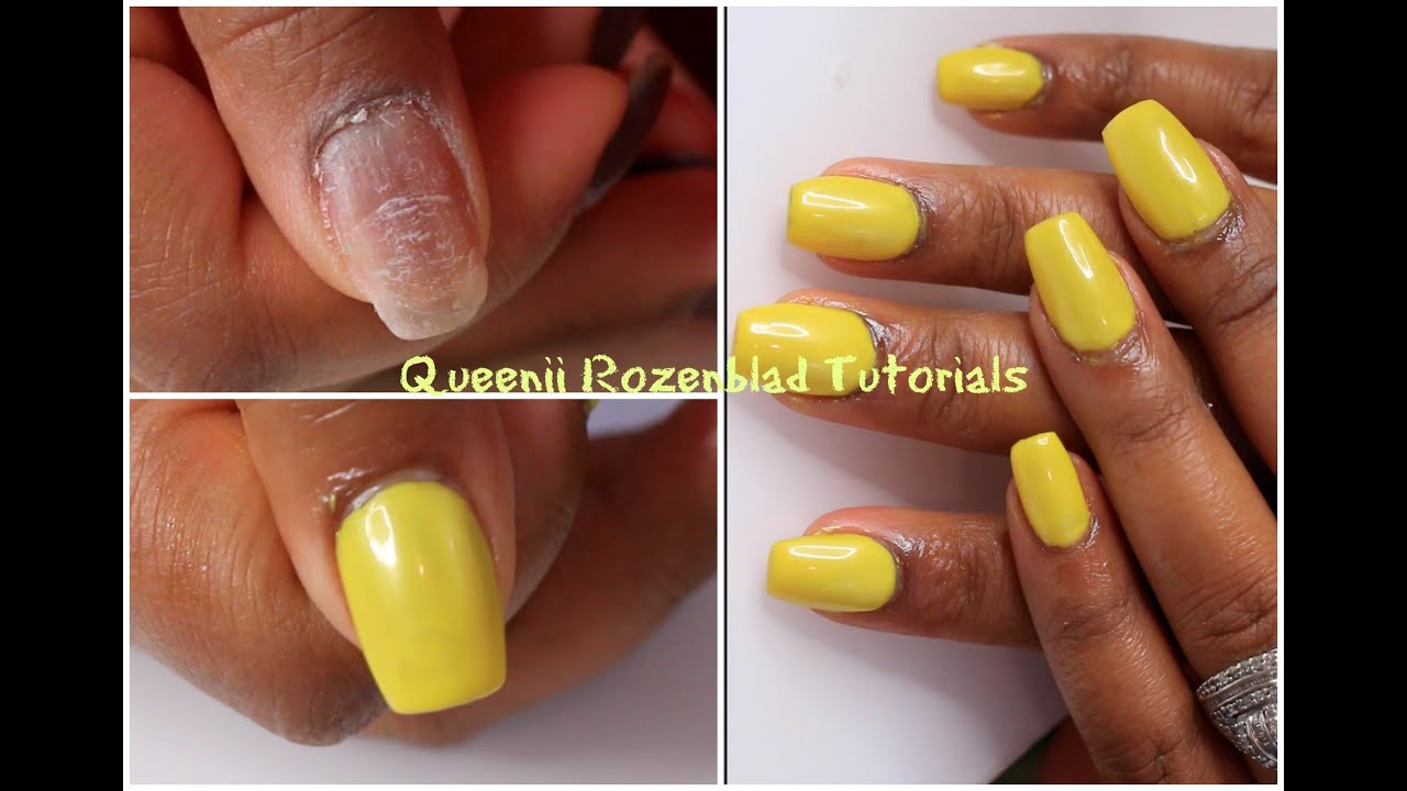 How I apply my acrylic on natural nails - Queenii Rozenblad - YouTube
