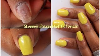 How I apply mỳ acrylic on natural nails - Queenii Rozenblad