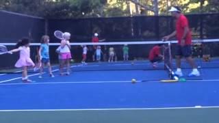 Eva's first tennis lesson Thumbnail