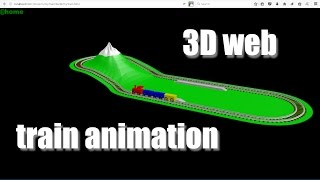 Converting A 3D Train Animation To Work In A Web Browser With Sound Effects (Using A Speaker Object)