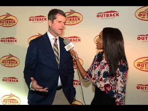 Jim Harbaugh Interview Outback Bowl Contract Signing Party