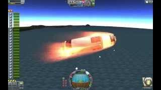 KSP:  Engine cluster test in 1.0