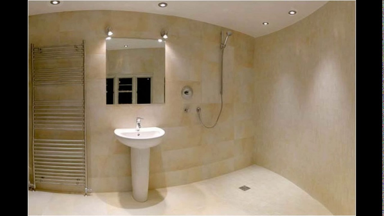 Wet room designs small bathrooms - YouTube