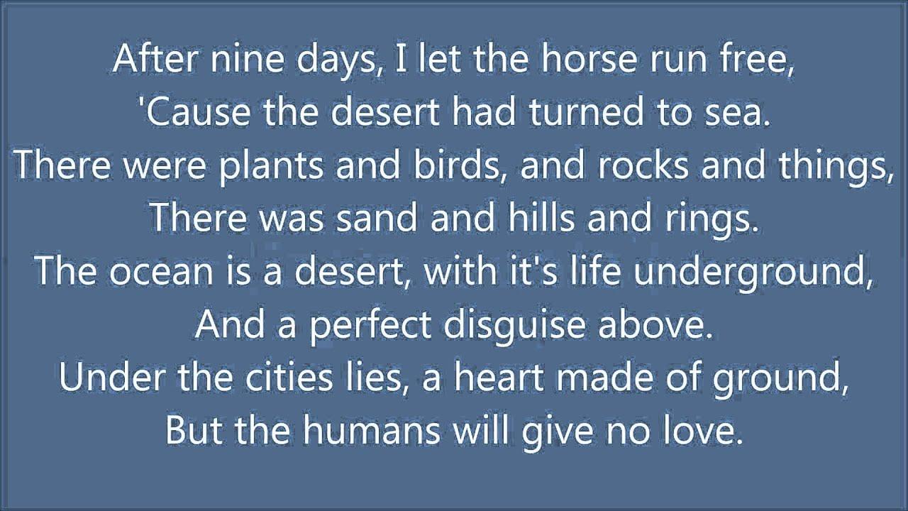 A Horse With No NameLyrics America
