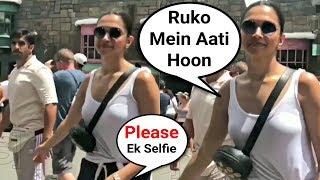 Deepika Padukone And Ranveer Singh Sweet Gesture Towards A Fan In Florida