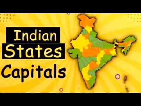 Learn Indian States & Its Capitals - India Map | General Knowledge Video
