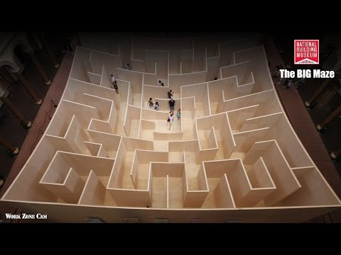 National Building Museum: The BIG MAZE Construction Time-Lapse