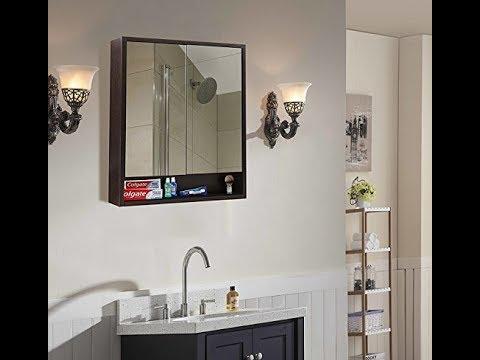 DIY   Klaxon Wooden Double Door Mirror Cabinet   G0223IT0005/09
