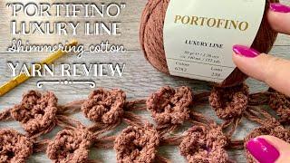 """Мягчайший ХЛОПОК (3-ной шнурок!) с ЛЮРЕКСОМ """"Portofino"""": ОБЗОР ПРЯЖИ / Cotton yarn review"""
