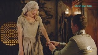 Once Upon A Time 6x03 Cinderella & Prince Kiss  Gives her Engagement Ring