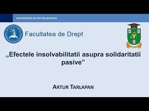 Artur Tarlapan — Efectele insolvabilitatii asupra solidaritatii pasive