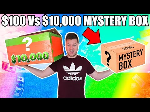 $100 VS $10,000 EBAY MYSTERY BOX CHALLENGE UNBOXING!! Bitcoin, Toys & More!!