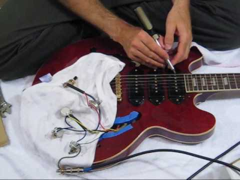 changing semi hollow body electronics part 1