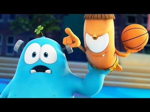 Funny Animated Cartoon | Spookiz Frankie Kebi Basketball Fire Catapult 스푸키즈 | Cartoon for Children