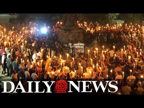 Torch-wielding white supremacists march through University of Virginia