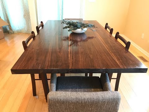 Walnut Dining Table Part 2: The top and finish