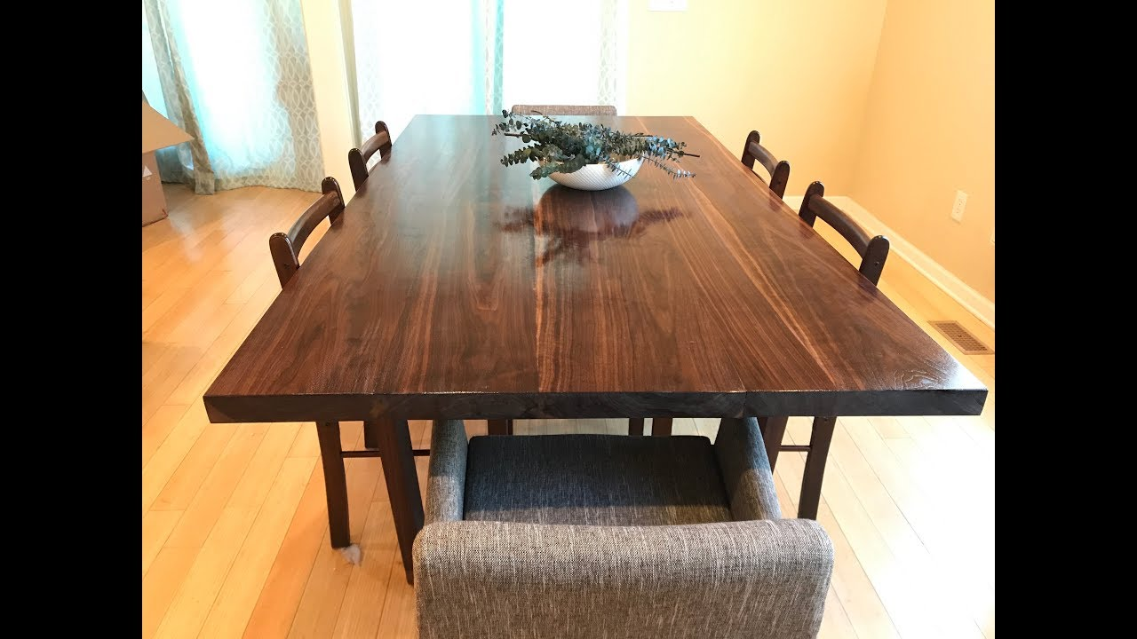 Walnut Dining Table Part 9 The top and finish