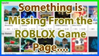Roblox Made a HUGE Update to the Games Page....