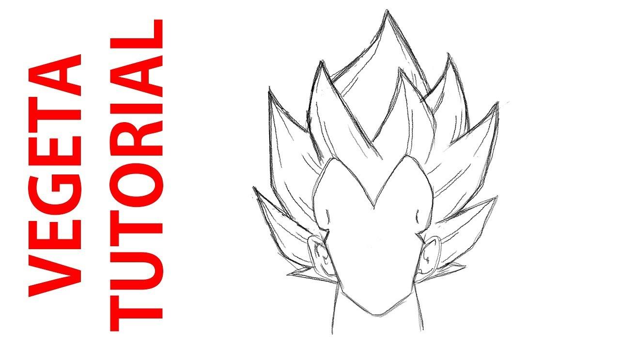 Comment Dessiner Dbz Facilement Les Cheveux De Vegeta Youtube