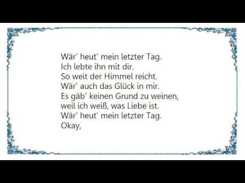 Die Lochis – Mein letzter Tag Lyrics | Genius Lyrics