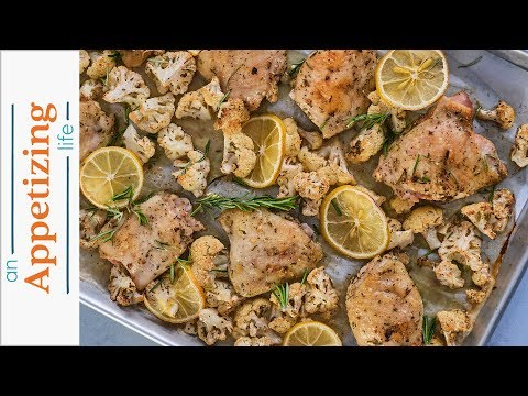 Roasted Lemon Rosemary Chicken | Sheet Pan Dinner Recipe