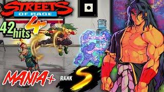 【4K】Streets of Rage 4 - Mania+ S-Rank 1CC (Shiva)