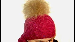 Шапка спицами_Hat knitting_Часть 2