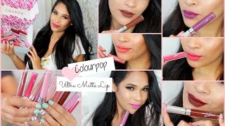 Colourpop Ultra Matte Lip Try On Swatches Medium Skin Tone NC35 NC40 MissLizHeart