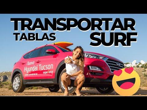 Cómo llevar Tablas de SURF en Hyundai Tucson con baca blanda
