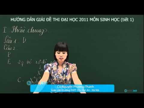 Giải đề thi đại học môn Sinh học năm 2011