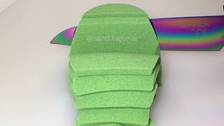 Most Satisfying Video Ever Kinetic Sand Cutting ASMR | Sand Tagious