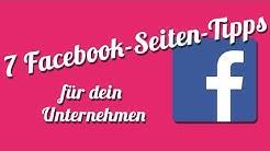 7 Tipps Für Eine Erfolgreiche Facebook-Seite | Facebook Seiten Optimieren