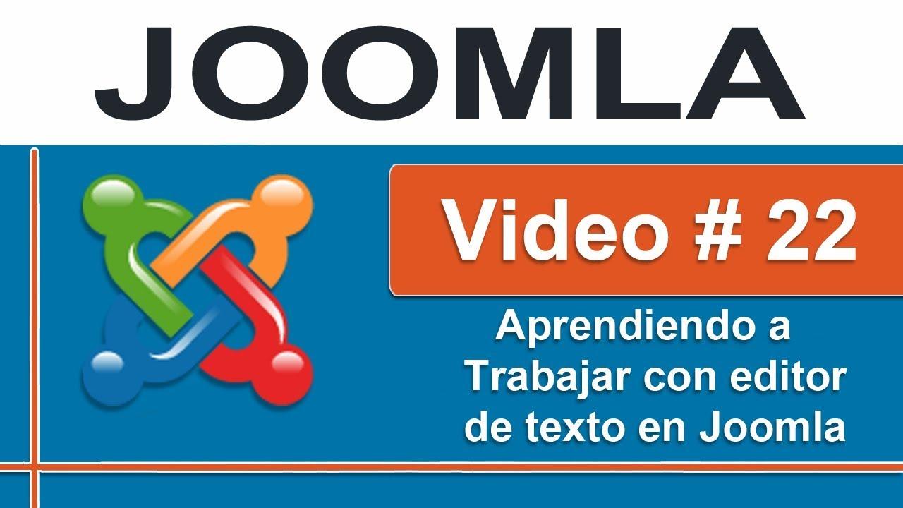 Joomla 3 Instalando Editor De Texto Enriquecido Jce Editor Mod 4 2 Youtube
