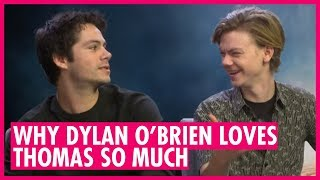 Why Dylan O'Brien Loves Thomas Brodie-Sangster. Maze Runner: Death Cure Interview