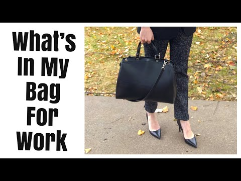 What's In My Bag For Work   Pack My Luxury Work Bag With Me