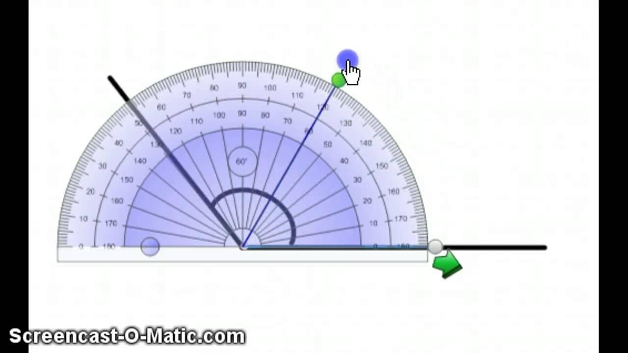 Hvordan lese av en vinkel med gradskive