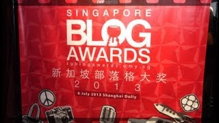 Vlog on Singapore Blog Awards 2013 OMY.sg #omySBA2013 | zsiti