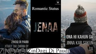Zindagi di paudi blessed Millind Gaba | Jannat zubair | Romantic WhatsApp status