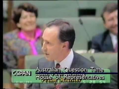 Keating vs. Tim Fischer (Australian Flag)