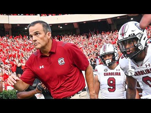 South Carolina coach Shame Beamer Reacts After Blowout Loss to UGA