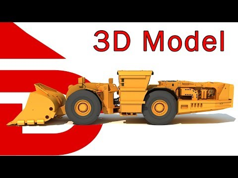 Underground Mining Loader | 3D Industrial Models