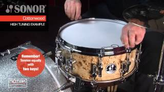 Tuning examples rullante Sonor AS 12 1406 CM SDWD - Cottonwood Maple