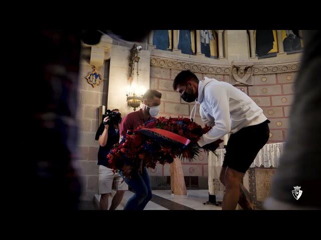 💐 #Osasuna realiza la ofrenda a San Francisco Javier