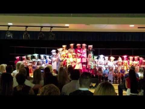 Shake it off ... Adam's kindergarten graduation... Independence Elementary School 2016