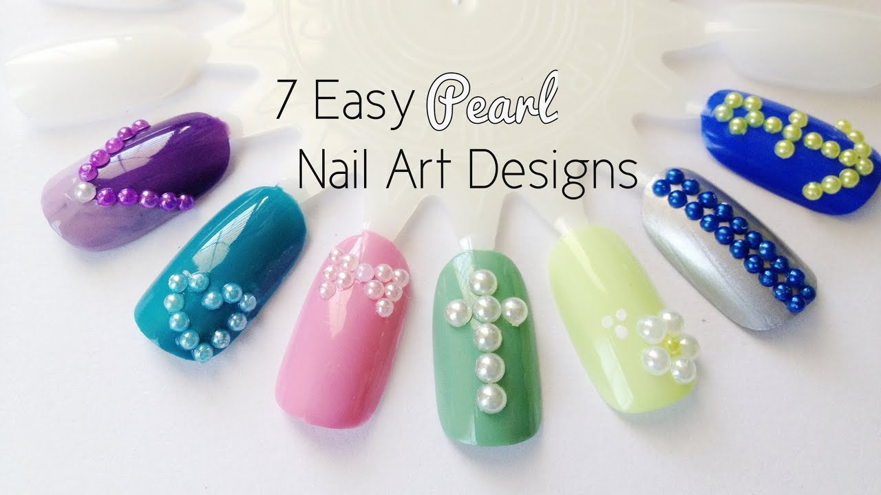 Manicure Monday: 7 Easy Pearl Nail Art Designs - YouTube