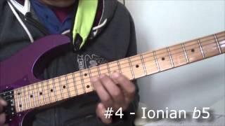 50 Shades of Modal Scales - Ionian Shade - Licks #1-7