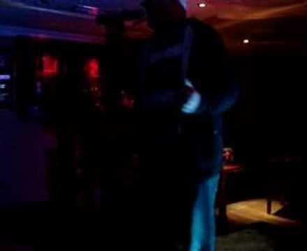 Male singer at Januarys Karaoke Waterford