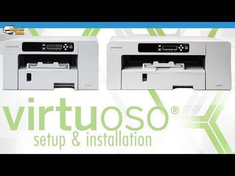 How To Install and Setup Sawgrass Virtuoso SG 400 & 800 Sublimation Printer with PowerDriver